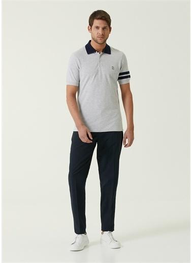 Brunello Cucinelli Brunello Cucinelli 101639807 Polo Yaka Kısa Kol Renk Detaylı  Erkek T-Shirt Lacivert